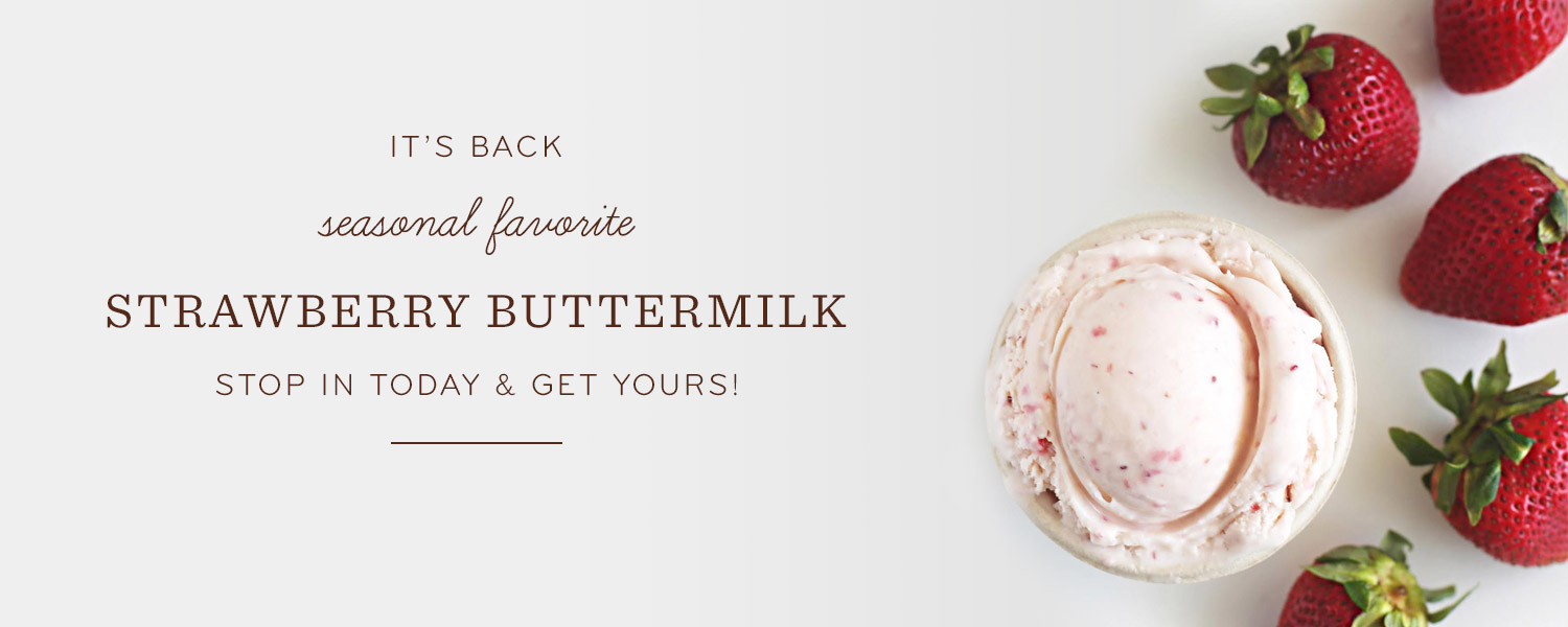 Seasonal favorite Strawberry Buttermilk is back!