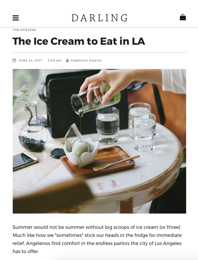 Darling The Ice To Eat In La