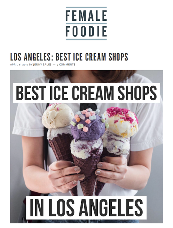 Female Foodie Best Ice Cream