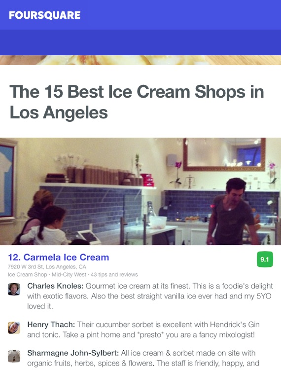 Foursquare 15 Best