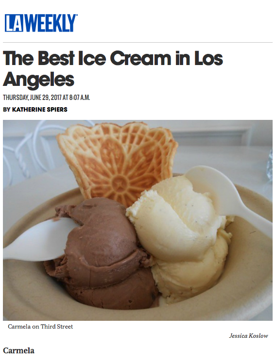 La Weekly Best Ice Cream