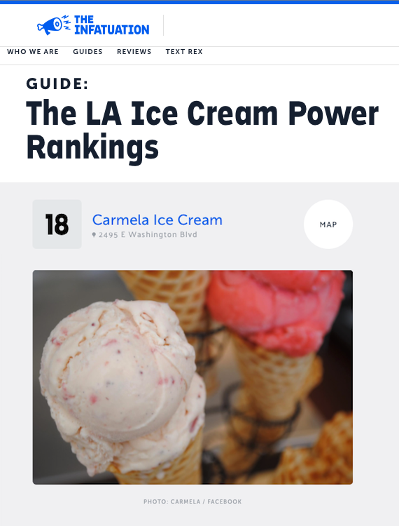 The Infatuation La Power Rankings