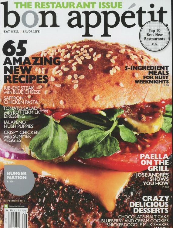 Bon Appetit 2010 Cover